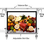 "Da-Lite Adjustable Skirt Bar for 69 x 120"" Fast-fold Portable Projection Screen"