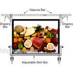 "Draper Drapery Bars for Cinefold  58x104"" Portable Projection Screen - One Pair"