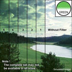 "Tiffen 3 x 3"" 1 Green Hard-Edge Graduated Filter"