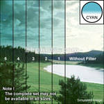 "Tiffen 3 x 4"" 2 Cyan Hard-Edge Graduated Filter (Vertical Orientation)"
