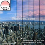 "Tiffen 2 x 3"" 1 Pink Hard-Edge Graduated Filter (Horizontal Orientation)"