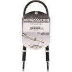 "Pro Co Sound StageMASTER 1/4"" Male to 1/4"" Male Instrument Cable - 1'"