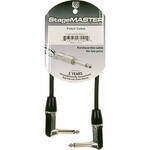 "Pro Co Sound StageMASTER 1/4""  Angled Male to 1/4""  Angled Male Instrument Cable - 1'"