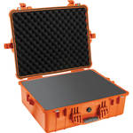Pelican 1600 Case with Foam Set (Orange)