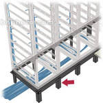 Middle Atlantic VFEET-4-12 4-Bay Riser Feet Set for Raised Floor Installation  (Black)