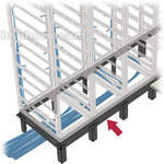 Middle Atlantic 3-Bay DANGLE Raised Floor Support Angle (Black)