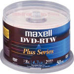 Maxell DVD-RTW 4.7GB Thermal/Hub Printable 8x Disc (50)