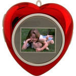 "Tricod DigiFrame 1.1"" Heart-Shaped Mini Digital Picture Frame (Red)"