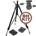 Manfrotto 3251 Tripod Legs (Black) with 808RC4 3-Way Head