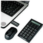 Kensington Wireless Notebook Keypad/Calculator and Mouse Set - USB
