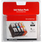 Canon BCI-3e Black and Color 4-Ink Cartridge Pack