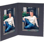 "Collector's Gallery Double View Folder-Contemporary Style without Foil Border , Model PF5402-46 -for 4 x 6"" Prints (Portrait Format)"
