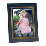 "Collector's Gallery Easel Picture Frame for 4 x 6"" Print  with Gold Border , Model PF5930-46"