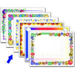 "Dry Lam Pizzazz Decorative Laminating Pouches - Stars Pack - Fun Frames 9 x 11.5""  (24 Pack)"