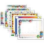"Dry Lam Pizzazz Decorative Laminating Pouches - Rainbow Pack - Fun Frames 9 x 11.5""  (24 Pack)"