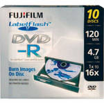 Fujifilm DVD-R Labelflash Printable Recordable Disc (Pack of 10)