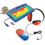 Califone Kids Computer Package - USB Keyboard, Mouse, and Headphones