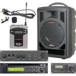 Galaxy Audio AS-TV8CE1V Traveler PA with CD Player, Echo System, and Lavalier Mic