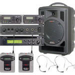 Galaxy Audio AS-TV8CE2S Traveler PA with CD Player, Echo System, and Two Headset Mics