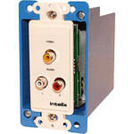 Intelix AVO-V1A2-WP Wall Plate Stereo Audio and Composite Video CAT-5 Balun
