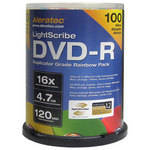 Aleratec DVD-R LightScribe 4.7GB 16x Recordable Rainbow Disc (Pack of 100)