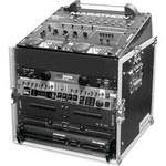 Marathon MA-M12U Flight Road 10U Slant Mixer Rack Combo Case (Black and Chrome)