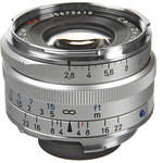 Zeiss Wide Angle 35mm f/2.8 C Biogon T* ZM Manual Focus Lens - Silver