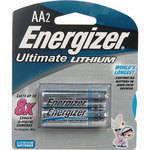 Energizer Ultimate Lithium AA Batteries (1.5V, 3500mAh, 2-Pack)