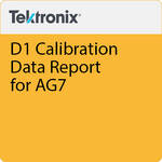 Tektronix D1 Calibration Data Report for AG7