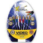 Xtreme Cables 3-RCA to 3-RCA Component Video Cable - 12'