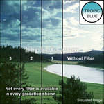 "Tiffen 3 x 3"" 2 Tropic Blue Soft-Edge Graduated Filter"