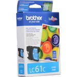 Brother LC61C Innobella Standard-Yield Cyan Ink Cartridge