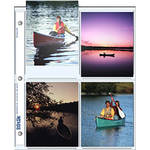 "Print File 45-8P Archival Storage Page for 8 Prints (4 x 5"", 500-Pack)"
