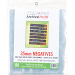 ClearFile Archival Plus Negative Page, 35mm, 7-Strips of 6-Frames - 100 Pack