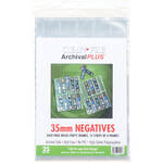 ClearFile Archival Plus Negative Page, 35mm, 10-Strips of 4-Frames - 25 Pack