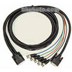 Aurora Multimedia DVI-I to DVI-D & 5x BNC Breakout Cable (6')