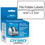"Dymo White 2-Up File Folder Labels (9/16 x 3 7/16"")"