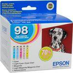 Epson 98 High Capacity Claria Ink: Full Color Cartridge Set
