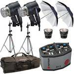 Norman D12R Pack, 2- IL2500 Head/Reflector, Stands, Umbrellas, Case Kit