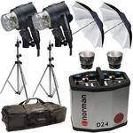 Norman D24 Pack, 2- IL2500 Head/Reflector, Stands, Umbrellas, Case Kit