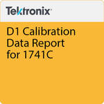 Tektronix D1 Calibration Data Report for 1741C