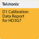Tektronix D1 Calibration Data Report for HD3G7