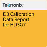 Tektronix D3 Calibration Data Report for HD3G7