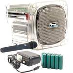Anchor Audio AN-Mini Deluxe Package (Clear) - PA w/ Wireless Handheld Mic & Recharge Kit