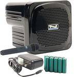 Anchor Audio AN-Mini Deluxe Package (Black) - PA w/ Wireless Handheld Mic & Recharge Kit