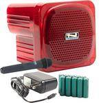 Anchor Audio AN-Mini Deluxe Package (Red) - PA w/ Wireless Handheld Mic & Recharge Kit