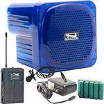 Anchor Audio AN-Mini Deluxe Package (Blue) - PA w/ Wireless Lapel Mic & Recharge Kit