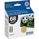 Epson T068120-D2 68 Dual Pack High Capacity Ink Cartridges (Black)