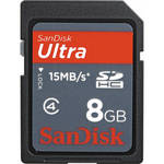 SanDisk 8GB SDHC Memory Card Ultra Class 6