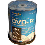 Aleratec DVD-R Silver 4.7GB 16x Recordable Disc (Spindle Pack of 100)